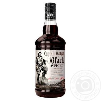 Ром Captain Morgan Spiced Black 40% 0,7л - купить, цены на Novus - фото 1