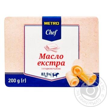 Масло METRO Chef сладкосливочное 82,5% 200г - купить, цены на Метро - фото 1