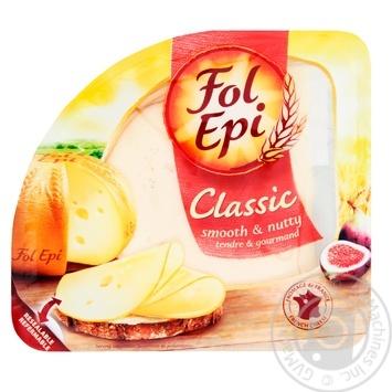 Сыр Fol Epi Classic полутвердый нарезанный 150г - купить, цены на УльтраМаркет - фото 1