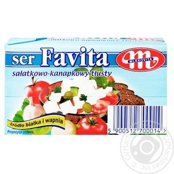 Сыр Mlekovita Favita мягкий соленый 45% 270г - купить, цены на МегаМаркет - фото 1