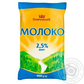 Молоко Галичанське пастеризованное 2.5% 900г - купить, цены на Ашан - фото 1