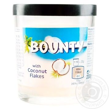 Bounty Chocolate paste 200g - buy, prices for Tavria V - image 1