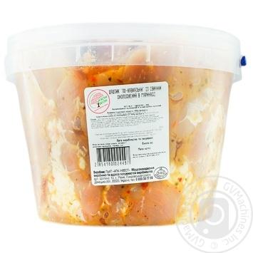 Шашлык Мясная Весна По-кавказски в маринаде из свинины охлажденный - купить, цены на Метро - фото 1