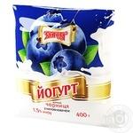 Йогурт Злагода чорниця 1,5% 400г