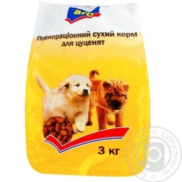 Корм Aro сухой полноценный для щенят 3000г