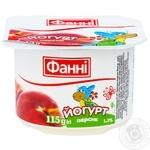 Йогурт Фанни Персик 1,5% 115г