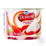 Йогурт Дольче Клубника двухслойный 3,2% 115г