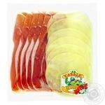 Закуска Casale ветчина сыровяленая сыр Проволоне нарезка слайсами 100г