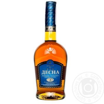 Desna Cognac ordinary 3 stars  40% 3* 0,5l - buy, prices for CityMarket - photo 1