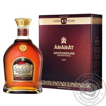 Коньяк Арарат Васпуракан 15 років 40% 0,7л в подарунковiй упаковцi - купити, ціни на Novus - фото 3