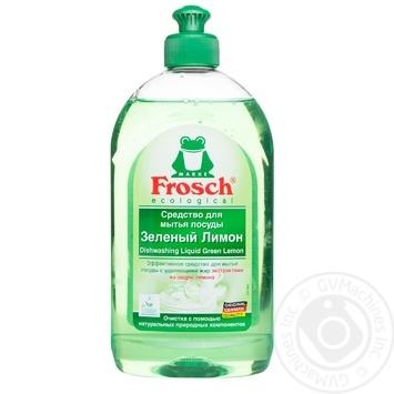 Засіб Frosch лимон для миття посуду 500мл - купити, ціни на МегаМаркет - фото 1