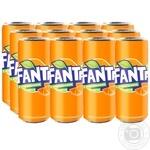 Напій Fanta Апельсин сильногазований ж/б 0,33л