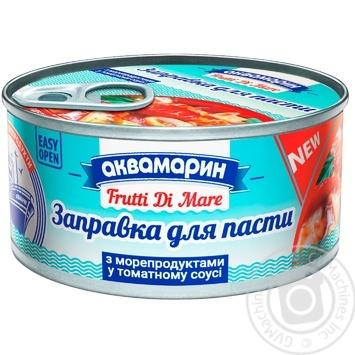 Заправка для пасты Аквамарин с морепродуктами в томатном соусе 185г - купить, цены на Метро - фото 1