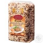 Рис World`s Rice Brown + Red + Black нешліфований 500г