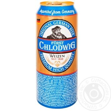 Пиво Furst Chlodwig пшеничное нефильтрованное 0,5л ж/б