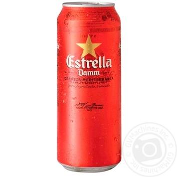 Пиво Estrella Damm Barcelona светлое 4,6% 0,5л