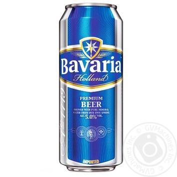 Пиво Бавария светлое 5%об. железная банка 0,5л
