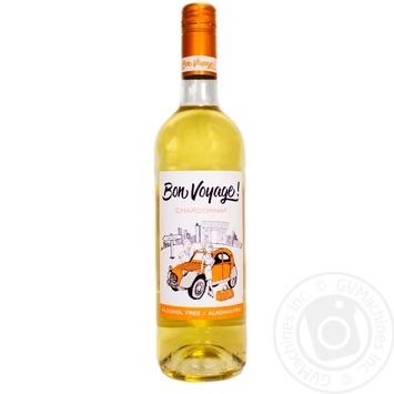 Вино безалкогольное Bon Voyage! Шардоне белое полусладкое 0,75л
