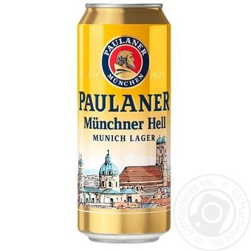 Pasteurized lager Paulaner Original Munchner 4.9%alc 0.5l - buy, prices for MegaMarket - image 1