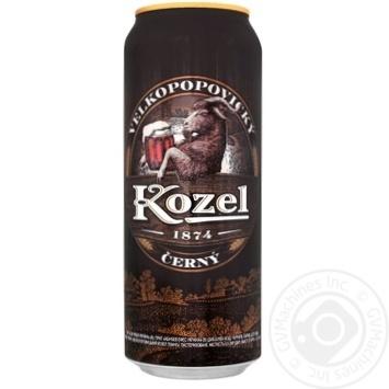 Пиво Vlekopopovicky Kozel темне 3,8% 0,5л - купити, ціни на Метро - фото 1