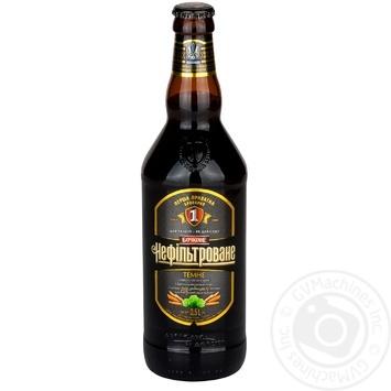 Persha privatna brovarnya unfiltered dark beer 4,8% 0,5l - buy, prices for CityMarket - photo 1
