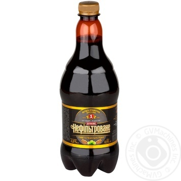 Пиво специальное Перша приватна броварня Бочковое нефильтрованное темное 4,8% 0,9л - купить, цены на Novus - фото 1