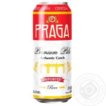 Praga Light Beer Can 4,7% 0,5l - buy, prices for Novus - image 1