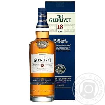 Виски The Glenlivet 18 лет 43% 0,7л - купить, цены на Novus - фото 1