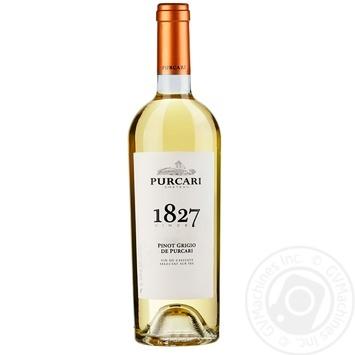 Вино Purcari Пино Гриджио выдержанное белое сухое 13,5% 0,75л