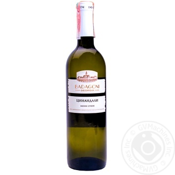 Вино Badagoni Цинандали белое сухое 13% 0,75л - купить, цены на Метро - фото 1