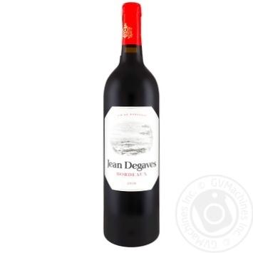 Вино Jean Degaves Bordeaux красное сухое 12,5% 0,75л