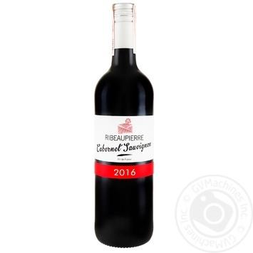 Вино  Рібоп'єр Каберне Совіньйон червоне виноградне сухе 13% 0,75л в асортименті - купити, ціни на Метро - фото 1
