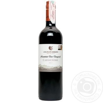 Вино Luis Felipe Edwards Карменер красное сухое 13% 0,75л - купить, цены на Метро - фото 1