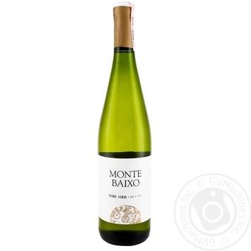 Вино Monte Baixo Vinho Verde белое сухое 10,5% 0,75л