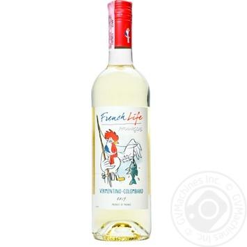 Вино French Life Vermentino-Colombard белое полусухое 11,5% 0,75л
