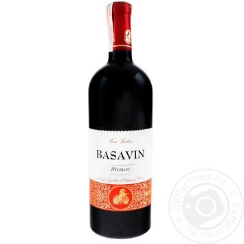 Вино Basavin Голд Мерло красное сухое 12% 0,75л