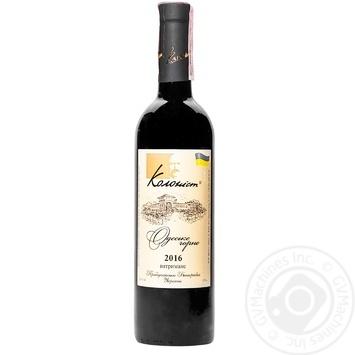 Вино Колонист Одесское Черное сухое красное сортовое выдержанное 13,5% 0,75л - купить, цены на Ашан - фото 1