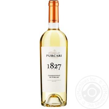 Вино Purcari Chardonnay белое сухое 13,5% 0,75л - купить, цены на Ашан - фото 1