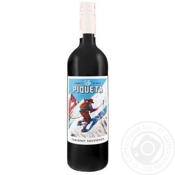 Вино La Piqueta Каберне Совиньон красное полусухое 12,5% 0,75л