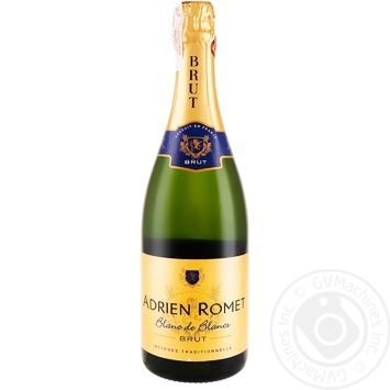 Шампанское Adrien Romet Blanc de Blancs белое Брют 12% 0,75л
