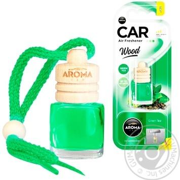 Ароматизатор Aroma Car Wood зеленый чай 6мл - купить, цены на Таврия В - фото 1