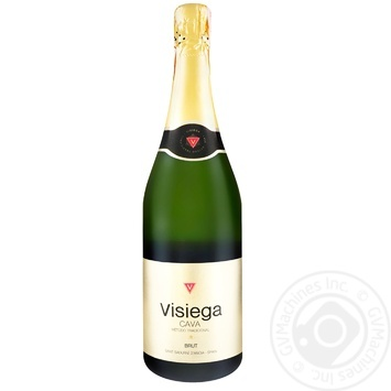 Вино игристое Cava Visiega белое брют 11,5% 0,75л - купить, цены на Метро - фото 1