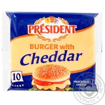 Processed cheese President Burger with cheddar  40% 200g - buy, prices for Metro - image 1