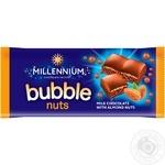 Шоколад Millennium пористый молочный с дробленым миндалем 70г