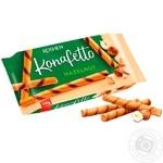 Вафельные трубочки Roshen Konafetto с начинкой орех 156г - купить, цены на Novus - фото 1