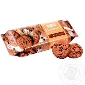 Печенье Roshen Эсмеральда с какао и кусочками глазури 150г - купить, цены на МегаМаркет - фото 1