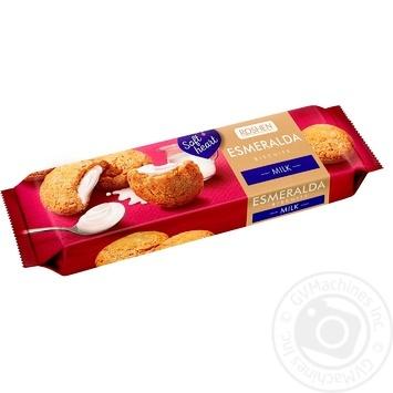 Печиво Roshen Eсмеральда soft heart milk здобне з начинкою 170г - купити, ціни на МегаМаркет - фото 1