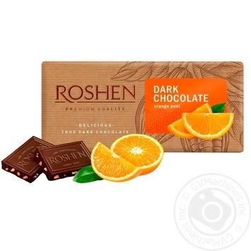 Шоколад черный Roshen с апельсиновой цедрой 90г - купить, цены на Novus - фото 1