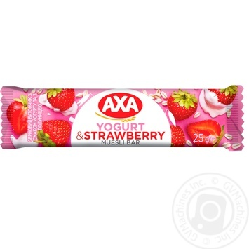 АХА Bar cereal yogurt with strawberries 25g - buy, prices for MegaMarket - image 1