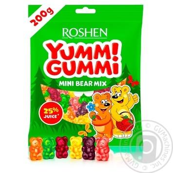 Цукерки Roshen Yummi Gummi Mini Bear Mix 200г - купити, ціни на МегаМаркет - фото 1